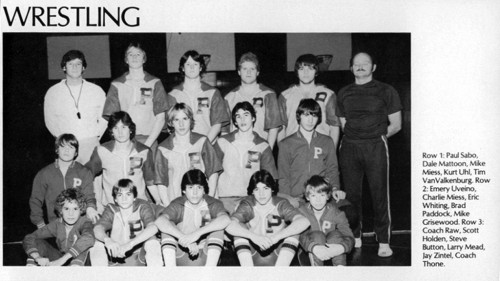1981-1982 Perry Yellow Jackets Wrestling