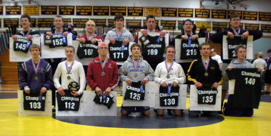 2009 Vermont State Wrestling Tournament Champions