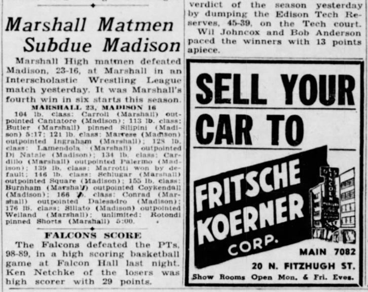 Marshall Matmen Subdue Madison