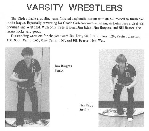 1978-1979 Ripley Eagles Wrestling