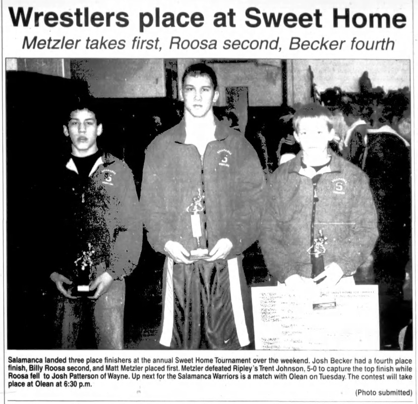 Wrestlers place at Sweet Home