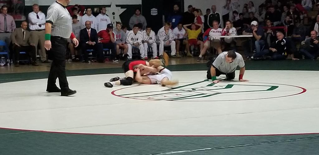 Gregor McNeil with the fall