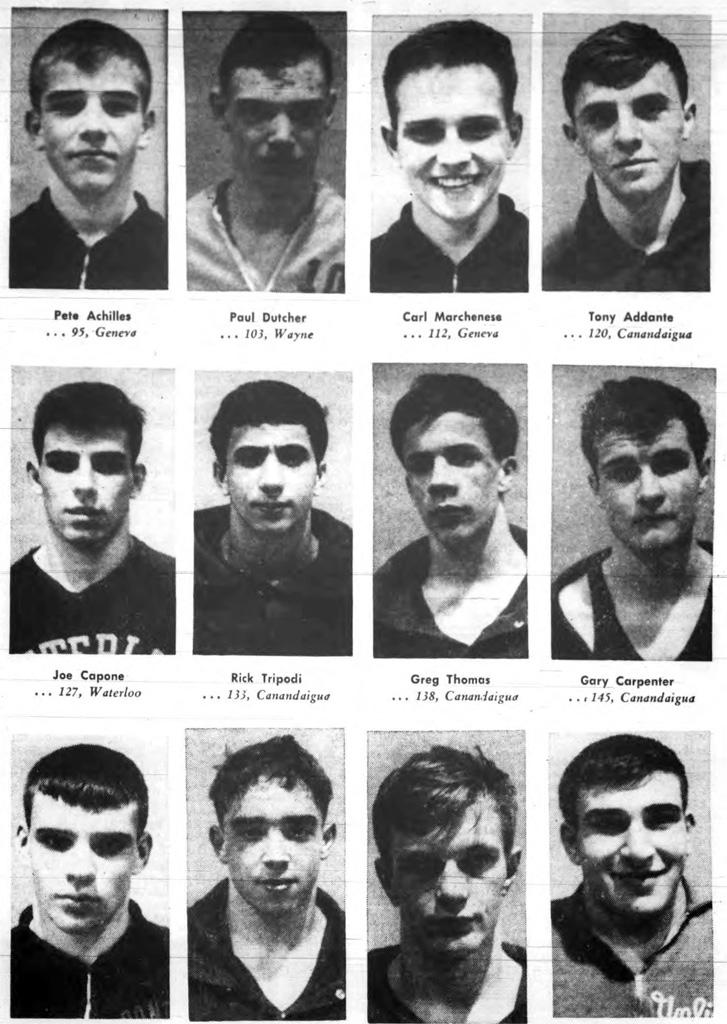 1964 Wayne-Finger Lakes Wrestling Champions