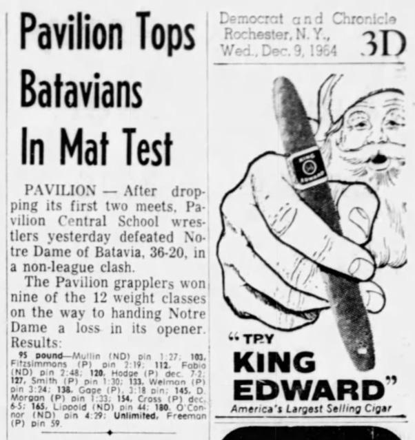 Pavilion Tops Batavians In Mat Test