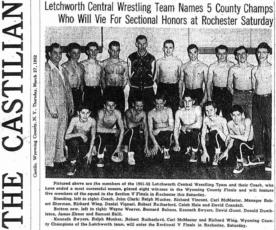 Letchworth Names 5 County Champs