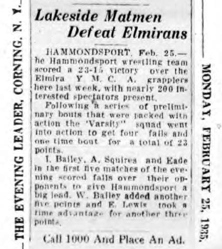 Lakeside Matmen Defeat Elmirans